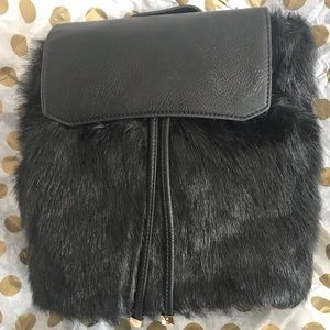 Handbags - Faux Fur Leather Backpack - New